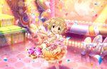 blush brown_eyes brown_hair dress idolmaster_cinderella_girls_starlight_stage koga_koharu short_hair smile