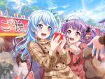bang_dream! blue_hair blush dress long_hair matsubara_kanon smile violet_eyes