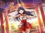black_hair long_hair miko shoujo_kageki_revue_starlight tsuyuzaki_mahiru violet_eyes