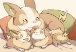 dog gen_8_pokemon green_eyes highres kuhu1212 licking no_humans pokemon pokemon_(creature) puppy smile tongue tongue_out yamper