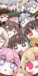 404_(girls_frontline) 6+girls ak-12_(girls_frontline) ak-15_(girls_frontline) an-94_(girls_frontline) anti-rain_(girls_frontline) chibi closed_eyes defy_(girls_frontline) eyebrows_visible_through_hair g11_(girls_frontline) girls_frontline highres hk416_(girls_frontline) m16a1_(girls_frontline) m4_sopmod_ii_(girls_frontline) m4_sopmod_ii_jr m4a1_(girls_frontline) mmm_(ji1945) mod3_(girls_frontline) multiple_girls one_eye_closed ro635_(girls_frontline) rpk-16_(girls_frontline) scar scar_across_eye st_ar-15_(girls_frontline) ump45_(girls_frontline) ump9_(girls_frontline)