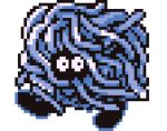 3d animated animated_gif blue_theme cortoony creature gen_1_pokemon looking_at_viewer lowres no_humans pixel_art pokemon pokemon_(creature) solo tangela transparent_background walking