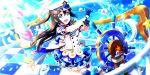 blue_eyes blush brown_hair cap dress long_hair love_live!_school_idol_festival_all_stars ousaka_shizuku smile