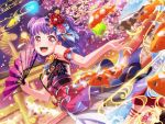 bang_dream! blush dress long_hair new_year purple_hair red_eyes smile udagawa_ako