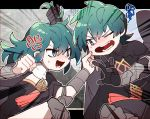 1boy 1girl anger_vein armor black_gloves blue_eyes blue_hair brother_and_sister byleth_(fire_emblem) byleth_(fire_emblem)_(female) byleth_(fire_emblem)_(male) byleth_eisner_(female) byleth_eisner_(male) female_my_unit_(fire_emblem:_fuukasetsugetsu) fire_emblem fire_emblem:_fuukasetsugetsu fire_emblem:_three_houses fire_emblem_16 friedbirdchips gloves hair_grab intelligent_systems male_my_unit_(fire_emblem:_fuukasetsugetsu) medium_hair my_unit_(fire_emblem:_fuukasetsugetsu) nintendo one_eye_closed open_mouth short_hair siblings sora_(company) super_smash_bros.