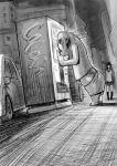 1girl bag car city full_body ghost greyscale ground_vehicle house izumi_(toubun_kata) kneehighs long_hair mieruko-chan miniskirt monochrome monster motor_vehicle night outdoors pleated_skirt road school_uniform shoulder_bag sketch skirt standing street twitter_username vending_machine yotsuya_miko