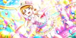 blush brown_hair dress hat koizumi_hanayo love_live!_school_idol_festival_all_stars short_hair smile violet_eyes