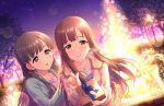 blush brown_eyes brown_hair dress idolmaster_cinderella_girls_starlight_stage long_hair mizumoto_yukari smile