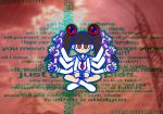 :| ancodia10 blush cellphone crossed_legs doom_(game) english multiple_arms otonashi_meru photo_background sayonara_zetsubou_sensei school_uniform skirt socks