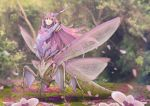 1girl antennae bodysuit bug extra_arms fantasy highres insect insect_girl mantis mantis_girl monster monster_girl nekoemonn original praying_mantis skin_tight