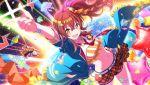 blush dress idolmaster idolmaster_shiny_colors komiya_kaho long_hair red_eyes redhead side_ponytail smile