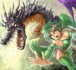 1girl amon_(artist) final_fantasy final_fantasy_iv mist_dragon rydia thigh-highs