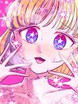 +_+ 1girl blush brown_hair highres naruse_yuu short_hair solo sparkle sparkle_background sparkling_eyes sweat watashi_ga_motenai_no_wa_dou_kangaetemo_omaera_ga_warui!