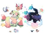 brown_eyes bug butterfly butterfree charamells cosmog creature eevee eye_contact flower flying food fruit full_body fusion galarian_form galarian_ponyta gen_1_pokemon gen_4_pokemon gen_6_pokemon gen_7_pokemon gen_8_pokemon holding holding_flower horn insect looking_at_another multiple_fusions no_humans pokemon pokemon_(creature) red_eyes shaymin shaymin_(land) simple_background standing unicorn vivillon vivillon_(meadow) watermelon white_background wreath yellow_eyes