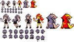 1girl bicycle black_dress black_footwear blue_(pokemon) dress fishing fishing_rod ghost-missingno gloves grey_hair ground_vehicle hand_on_hip holding holding_fishing_rod looking_at_viewer looking_away multiple_views official_style one_eye_closed partially_colored pixel_art poke_ball poke_ball_(generic) pokemon pokemon_(game) pokemon_rgby pokemon_rgby_beta prototype redhead riding shoes short_dress sprites standing transparent_background walking white_gloves yellow_skin