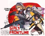 6+girls assault_rifle character_name commentary_request english_text fighting_stance fnc_(girls_frontline) g36_(girls_frontline) girls_frontline gun h&k_g36 h&k_sl8 highres hk416_(girls_frontline) jacket jojogwang korean_commentary kung_fu m1903_springfield_(girls_frontline) m4_sopmod_ii_(girls_frontline) maid maid_headdress movie_poster multiple_girls parody qbu-88 qbu-88_(girls_frontline) red_dead_redemption rifle sharp_teeth sl8_(girls_frontline) teeth weapon