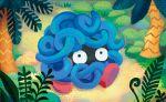 black_eyes bush creature full_body gen_1_pokemon looking_at_viewer no_humans official_art plant pokemon pokemon_(creature) pokemon_trading_card_game shibuzoh solo tangela tree walking
