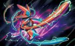 black_eyes creature deoxys energy floating fukuda_masakazu full_body gen_3_pokemon no_humans official_art pokemon pokemon_(creature) pokemon_trading_card_game solo space star_(sky)