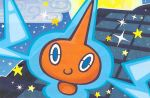 blue_eyes building closed_mouth clouds floating full_moon gen_4_pokemon ghost mahou moon night night_sky official_art outdoors pokemon pokemon_trading_card_game rotom rotom_(normal) sky smile star star_(sky) starry_sky third-party_source
