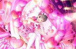 black_hair blush dress green_eyes idolmaster_cinderella_girls_starlight_stage matsubara_saya short_hair smile wink