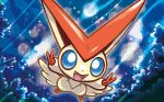 creature no_humans official_art pokemon pokemon_(creature) pokemon_trading_card_game solo third-party_source tsuruta_saya victini
