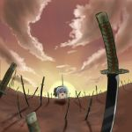 cloud clouds couzone konpaku_youmu parody sky sword touhou unlimited_blade_works weapon yukkuri_shiteitte_ne