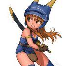 daisy_(dq) daisy_(dq_yuusha_abel_densetsu) dragon_quest dragon_quest_yuusha_abel_densetsu gloves helmet long_hair maagori sword thigh-highs thighhighs weapon