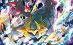 brown_eyes creature energy full_body gen_4_pokemon giratina giratina_(altered) hasuno_(poketcg) legendary_pokemon looking_at_viewer no_humans official_art pokemon pokemon_(creature) pokemon_trading_card_game solo standing third-party_source wings
