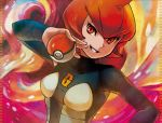 breasts kodama_(artist) mars_(pokemon) no_humans official_art pokemon pokemon_(game) pokemon_dppt pokemon_trading_card_game small_breasts solo team_galactic team_galactic_uniform third-party_source