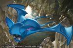 2016 bat cave creature fangs flying full_body gen_1_pokemon match_(idleslumber) no_humans pokemon pokemon_(creature) pokemon_trading_card_game rock solo watermark zubat