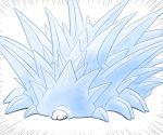 chrono_trigger cosplay emphasis_lines gen_8_pokemon ice lavos lavos_(cosplay) no_humans pokemon pokemon_(creature) snom spikes veganswampert white_background