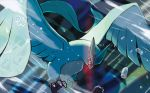 articuno bird bird_focus brown_eyes claws commentary creature english_commentary flying full_body gen_1_pokemon ice legendary_pokemon looking_at_viewer multiple_sources no_humans official_art oomura_yuusuke pokemon pokemon_(creature) pokemon_trading_card_game snowflakes solo third-party_source wind