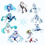 6+girls absurdres ahoge aqua_eyes aqua_hair aqua_nails bare_shoulders beamed_eighth_notes bell belt black_gloves black_skirt bloomers blue_bow blue_dress blue_eyes blue_gloves blue_legwear blue_mittens blue_nails blue_neckwear blue_ribbon blue_skirt blue_sleeves boots bow bubble_skirt capelet character_name cherry cloak closed_eyes coat constellation_print detached_sleeves dress earmuffs eighth_note everyone expressionless fan fingerless_gloves flower folding_fan food fruit full_body fur-trimmed_boots fur-trimmed_coat fur_trim gem gloves grey_legwear grey_sleeves grin hair_flower hair_ornament hair_ribbon hairband hand_to_own_mouth hand_up hands_up hat hat_bow hat_leaf hatsune_miku headset highres holding holding_fan holding_flower holding_instrument holding_shovel holding_umbrella holding_wand hood hooded_kimono instrument jacket japanese_clothes jingle_bell kagura_suzu kimono knee_up large_hat layered_dress leaf light_blue_hair light_blush lily_of_the_valley long_hair looking_at_viewer looking_to_the_side magician miniskirt mittens mizuamemochimochi multiple_girls musical_note musical_note_print nail_polish neck_ribbon necktie one_eye_closed open_mouth oriental_umbrella outstretched_arm owl_ears pantyhose parted_lips petticoat pleated_skirt quarter_note reaching_out ribbon scarf shiromuku shirt shovel silver_skirt sitting ski_gear ski_goggles skirt smile snow_globe snowbell_(flower) snowboard snowflake_ornament snowflake_print snowflakes staff_(music) standing star star_hair_ornament star_ornament star_print striped striped_legwear striped_ribbon surprised tassel thigh-highs thigh_boots treble_clef twintails umbrella underwear very_long_hair vocaloid wand wariza white_background white_capelet white_cloak white_dress white_eyes white_footwear white_gloves white_hair white_headwear white_jacket white_kimono white_mittens white_scarf white_shirt white_skirt wide_sleeves witch_hat yellow_neckwear yuki_miku yuki_miku_(2010) yuki_miku_(2011) yuki_miku_(2012) yuki_miku_(2013) yuki_miku_(2014) yuki_miku_(2015) yuki_miku_(2016) yuki_miku_(2017) zettai_ryouiki zouri