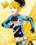 blonde_hair bodysuit character_name idolmaster idolmaster_side-m maita_rui red_eyes short_hair