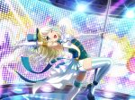 blonde_hair blue_eyes dress long_hair shoujo_kageki_revue_starlight smile wink yumeoji_shiori