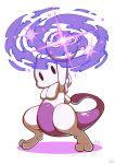 04sora40 1other arm_up black_eyes chibi full_body gen_1_pokemon mewtwo no_humans pokemon pokemon_(creature) solo sparkle standing super_smash_bros. tail white_background