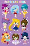 6+girls :> :d ;d aqua_eyes aqua_hair bishoujo_senshi_sailor_moon blonde_hair blue_eyes blue_hair bow brown_hair capri_pants cardcaptor_sakura chibi crossover double_bun dress earrings english_text fuuin_no_tsue green_eyes hair_bow hairband hat highres himitsu_no_akko-chan inline_skates jewelry juuban_middle_school_uniform kagami_atsuko kaorin_minogue kinomoto_sakura low_twintails magical_girl mahou_no_tenshi_creamy_mami mahou_no_yousei_persia manaka_lala marinette_dupain-cheng miraculous_ladybug morisawa_yuu multiple_crossover multiple_girls one_eye_closed open_mouth pants persia_(mahou_no_yousei_persia) pleated_skirt pretty_(series) pripara purple_background purple_hair roller_skates school_uniform serafuku skates skirt skirt_hold smile sofia_(disney) sofia_the_first sparkle standing standing_on_one_leg star star-shaped_pupils star_butterfly star_vs_the_forces_of_evil symbol-shaped_pupils tiara tikki_(miraculous_ladybug) tomoeda_elementary_school_uniform trait_connection tsukino_usagi twintails wand