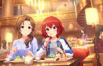 blush dress idolmaster_cinderella_girls_starlight_stage kawashima_mizuki murakami_tomoe red_eyes redhead short_hair