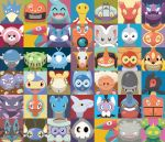 bird black_eyes blue_eyes carnivine castform castform_(normal) castform_(rainy) castform_(snowy) castform_(sunny) cinccino commentary cranidos creature drapion english_commentary face floatzel frown gen_1_pokemon gen_2_pokemon gen_3_pokemon gen_4_pokemon gen_5_pokemon gen_6_pokemon gen_7_pokemon girafarig golduck gothita haunter horn lanturn lapras looking_at_viewer no_humans numel pokemon pokemon_(creature) porygon rotom rotom_(frost) rotom_(heat) rotom_(mow) rotom_(normal) rotom_(wash) shawn_flowers shieldon shuckle skarmory skorupi slugma smile stufful swablu torkoal toxicroak weezing wimpod wynaut yamask
