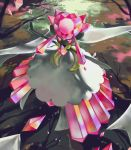 closed_mouth commentary creature diancie english_commentary full_body gen_6_pokemon highres mega_diancie mega_pokemon no_humans pink_eyes pinkgermy pokemon pokemon_(creature) signature smile