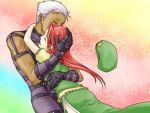 1girl couple crossover esaka hand_on_head hong_meiling hug krizalid m.u.g.e.n touhou