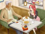 blue_eyes casual contemporary couple crossover date dating esaka flandre_scarlet highres hong_meiling izayoi_sakuya king_of_fighters krizalid long_hair m.u.g.e.n patchouli_knowledge peeping red_eyes red_hair redhead remilia_scarlet ribbon ribbons short_hair stalking touhou white_hair
