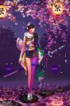 earrings flower highres japanese_clothes jewelry katana sword weapon wen-m