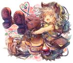 1girl animal_ears bag bloomers brown_legwear fang full_body gloves green_headwear green_hood green_skirt heart heart_of_string hood kemonomimi_mode komeiji_koishi legs_up looking_at_viewer medium_hair miniskirt open_mouth paw_gloves paws purple_footwear sekisei_(superego51) shoe_soles shoulder_bag silver_hair simple_background skin_fang skirt smile solo tail thigh-highs touhou underwear white_background wolf_ears wolf_tail yellow_eyes