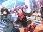 bang_dream! blush jacket long_hair purple_hair red_eyes smile twintails udagawa_ako
