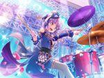 bang_dream! blush dress drum_set long_hair purple_hair red_eyes smile udagawa_ako
