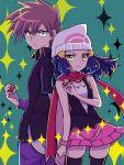1boy 1girl mokorei ookido_green platinum_berlitz pokemon