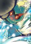 creature gen_7_pokemon marshadow marshadow_(zenith) motion_lines no_humans open_mouth pokemon pokemon_(creature) solo standing yuki_(pixiv16432974)