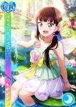 black_hair blush character_name dress fairy green_eyes kurosawa_dia long_hair love_live!_school_idol_festival love_live!_sunshine!! smile