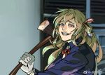 1girl axe crazy_eyes girls_frontline gloves long_hair m1903_springfield_(girls_frontline) ruukii_drift source_request weapon